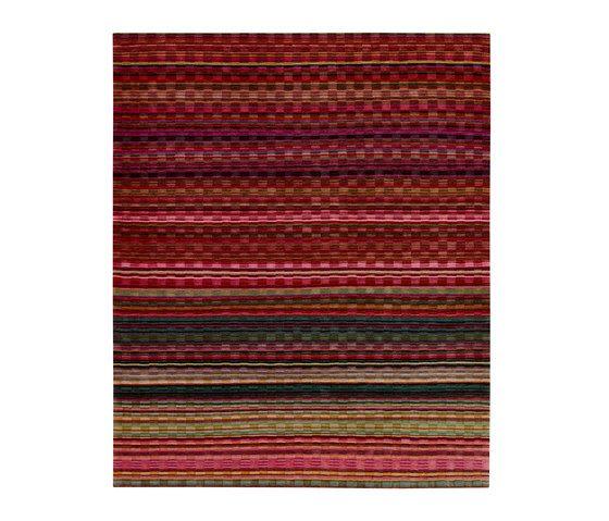 REUBER HENNING,Rugs,brown,line,maroon,orange,pattern,pink,red,rug