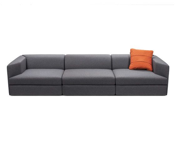 OBJEKTEN,Sofas,couch,furniture,leather,orange,room,sofa bed,studio couch