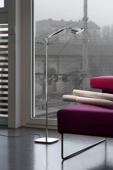 LUCEPLAN,Floor Lamps,coffee table,couch,design,floor,furniture,interior design,lamp,light fixture,lighting,living room,material property,room,studio couch,table