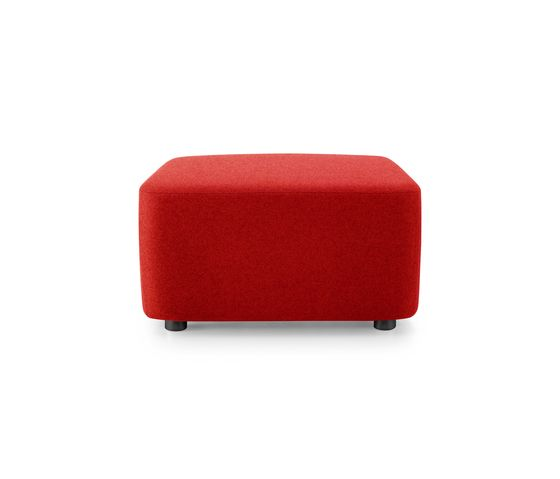 Girsberger,Footstools,furniture,ottoman,red,stool