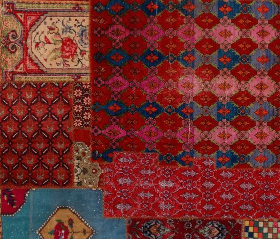 GOLRAN 1898,Rugs,art,brown,carpet,design,flooring,motif,patchwork,pattern,quilt,red,textile