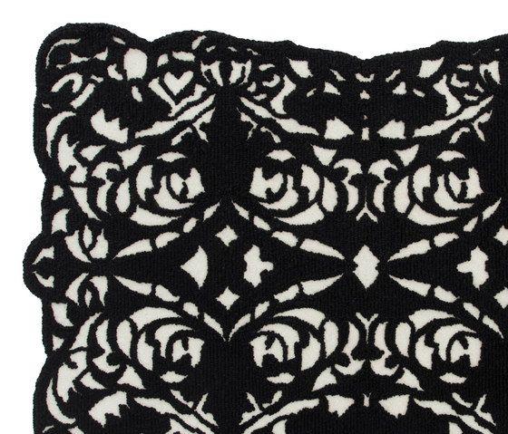 GANDIABLASCO,Rugs,black,cushion,design,lace,linens,pattern,pillow,textile,throw pillow
