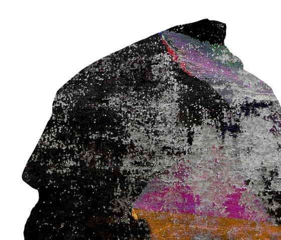 Henzel Studio,Rugs,black,pink,rock