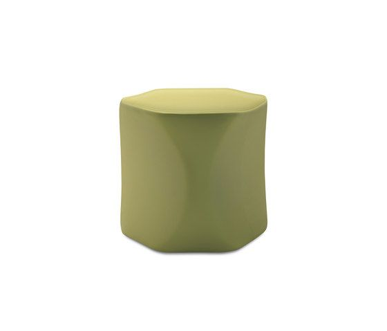 Frag,Footstools,cylinder,furniture,green,stool,table,yellow