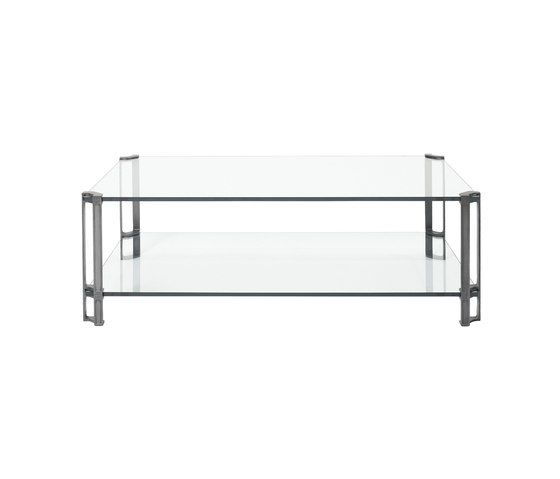 Glass, Brass Partially Gloss Legs,Ghyczy,Coffee & Side Tables,coffee table,furniture,rectangle,shelf,sofa tables,table