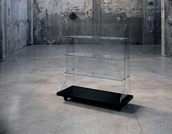 Glas Italia,Bookcases & Shelves,coffee table,display case,furniture,iron,table