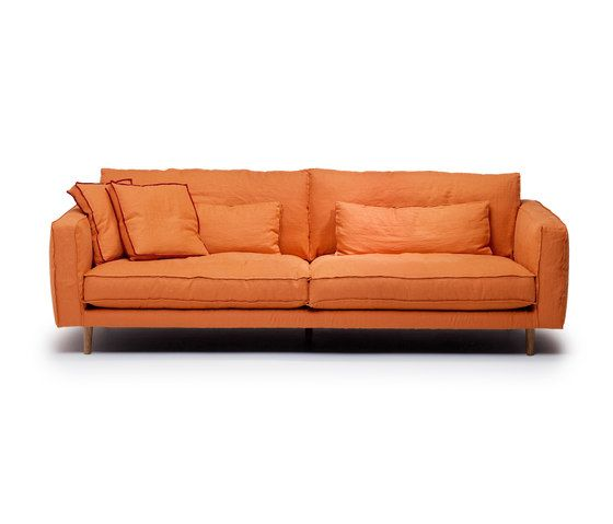 Linteloo,Sofas,couch,furniture,leather,orange,room,sofa bed,studio couch