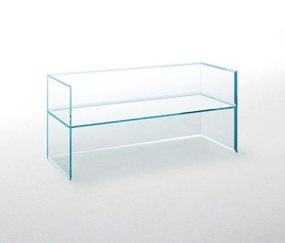 Glas Italia,Benches,coffee table,desk,display case,furniture,glass,line,product,rectangle,shelf,shelving,table