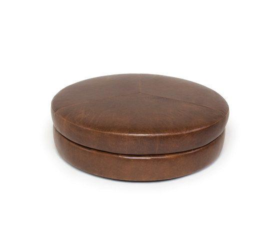 Naula,Footstools,brown,leather,ottoman
