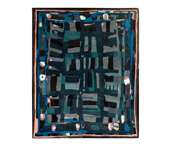 REUBER HENNING,Rugs,aqua,pattern,rectangle,teal,turquoise