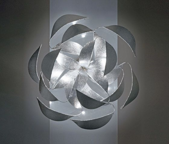 HARCO LOOR,Ceiling Lights,black-and-white,design,lighting,petal,silver,white