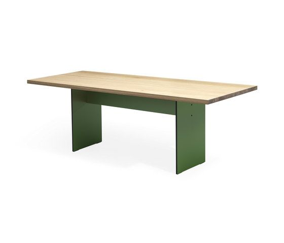 Janua / Christian Seisenberger,Dining Tables,desk,furniture,outdoor table,rectangle,table,wood stain