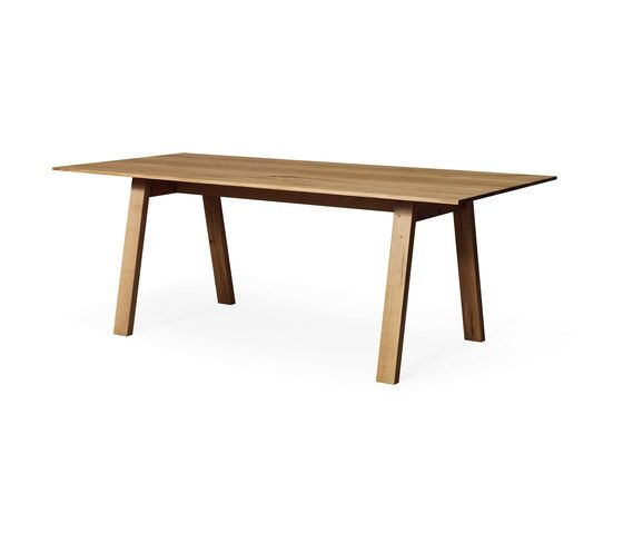Janua / Christian Seisenberger,Dining Tables,coffee table,desk,furniture,outdoor table,plywood,rectangle,table,wood,wood stain
