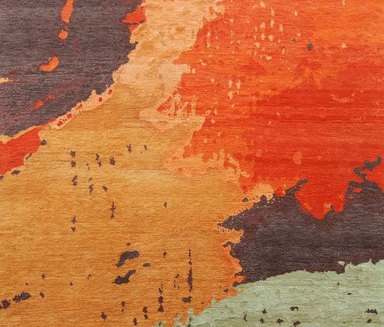 Living Divani,Rugs,geological phenomenon,line,orange,painting,red,sky,wall,wood,yellow