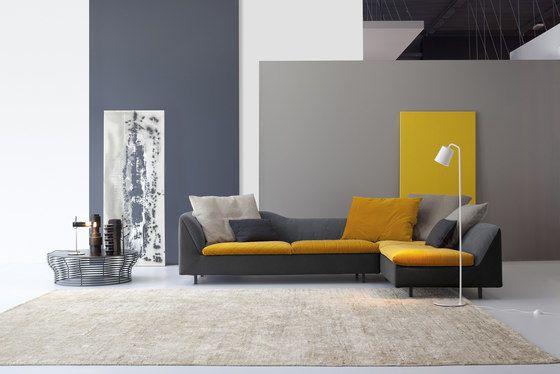 Bonaldo,Sofas,couch,floor,furniture,interior design,living room,material property,orange,room,sofa bed,table,wall,yellow