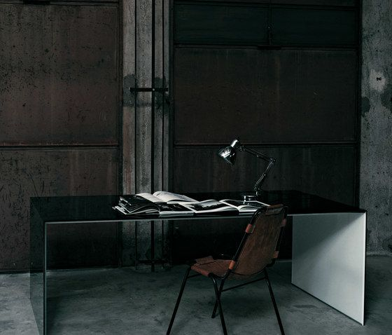 Glas Italia,Office Tables & Desks,architecture,black,floor,flooring,furniture,interior design,room,table,tile,wall