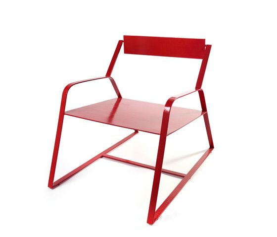 Serax,Lounge Chairs,chair,folding chair,furniture,red