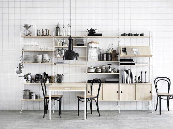 string furniture,Bookcases & Shelves,floor,furniture,interior design,kitchen,material property,room,shelf,table,tile