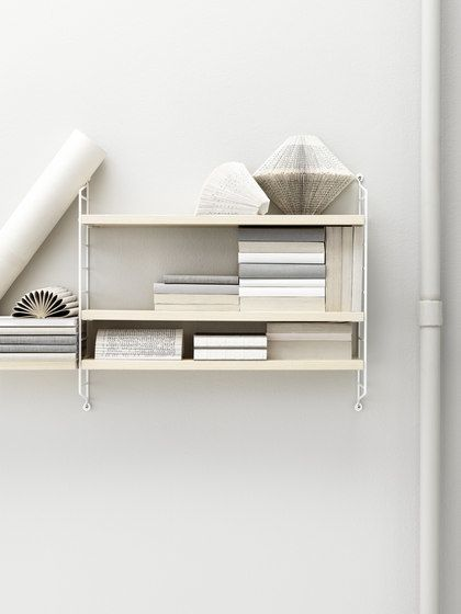 string furniture,Bookcases & Shelves,furniture,room,shelf,shelving,wall