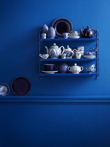 string furniture,Bookcases & Shelves,blue,cobalt blue,electric blue,furniture,shelf,still life photography
