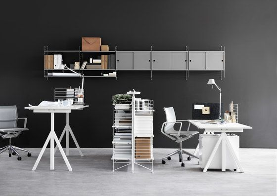 string furniture,Bookcases & Shelves,black-and-white,chair,design,desk,furniture,interior design,office,product,room,table