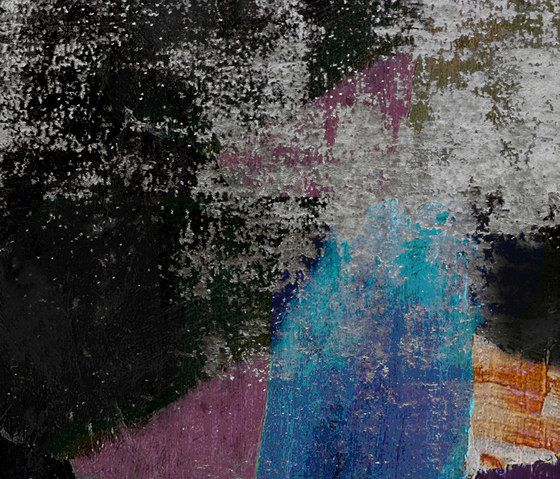 Henzel Studio,Rugs,art,blue,line,painting,pink,purple,sky,tints and shades,tree,wall,water,yellow