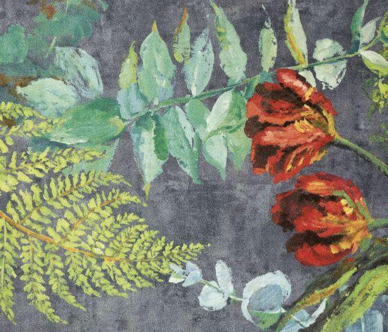 Designers Guild,Rugs,art,botany,flower,illustration,leaf,painting,pattern,plant,textile,visual arts