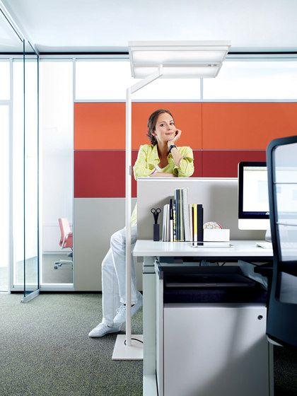 H. Waldmann,Floor Lamps,desk,furniture,interior design,office,room