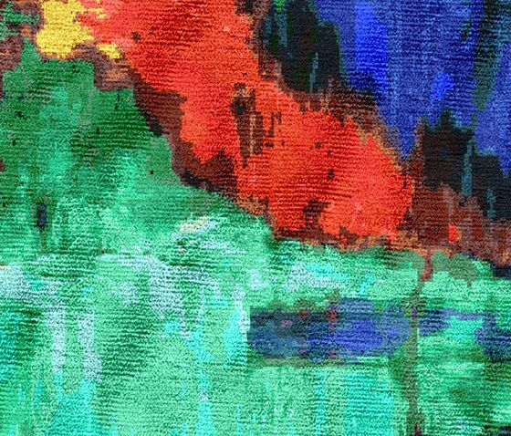 Illulian,Rugs,acrylic paint,art,blue,colorfulness,green,modern art,painting,red,turquoise,watercolor paint