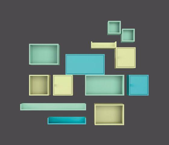 LAGRAMA,Cabinets & Sideboards,design,rectangle,shelf,turquoise