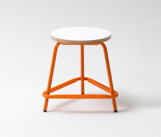 Müller Möbelfabrikation,Stools,bar stool,furniture,orange,stool,table