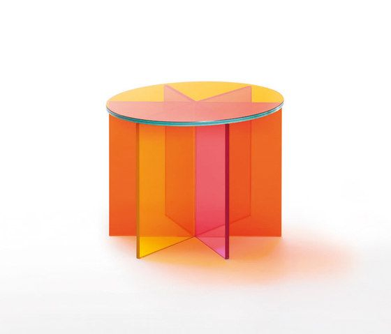 Glas Italia,Coffee & Side Tables,cylinder,material property,orange,table