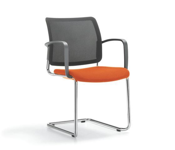 Girsberger,Dining Chairs,armrest,chair,furniture,office chair,orange