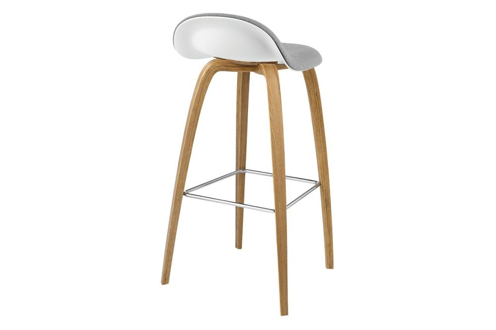 Gubi Wood American Walnut, Gubi HiRek Black Semi Matt, Price Grp. 01, Gubi Metal Brass,GUBI,Stools,bar stool,furniture,stool