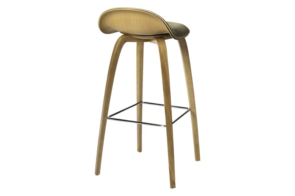 Gubi Wood American Walnut, Price Grp. 01, Gubi Metal Brass,GUBI,Stools,bar stool,furniture,stool