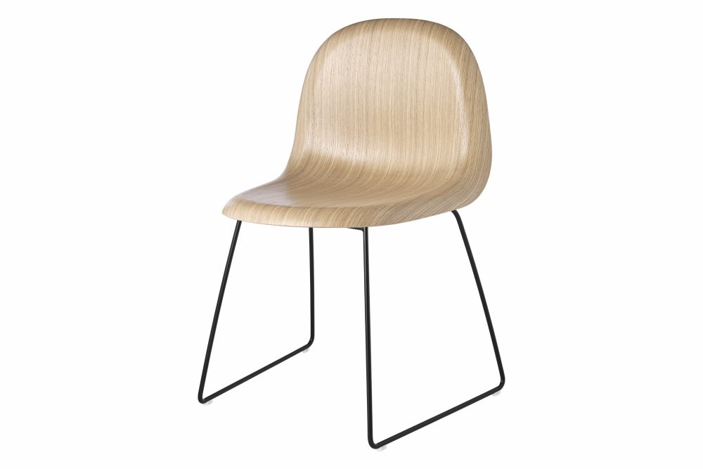 Gubi HiRek Black Semi Matt, Gubi Metal Matt Black, Felt Glides, Yes,GUBI,Dining Chairs,beige,chair,furniture,wood