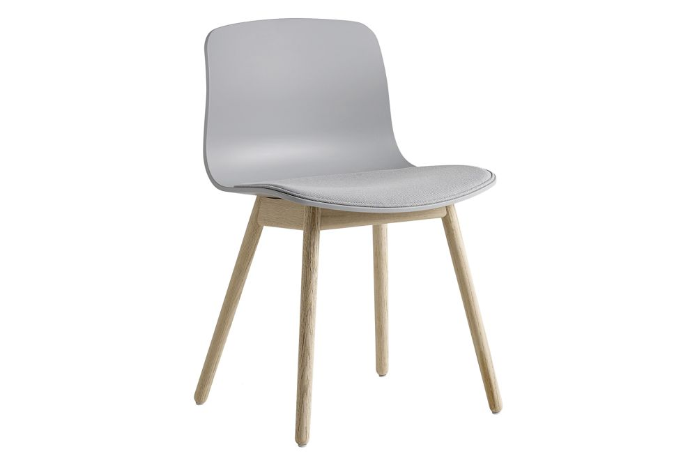 Fabric Group 1, Plastic White, Wood Soaped Oak,Hay,Dining Chairs,beige,chair,furniture,wood