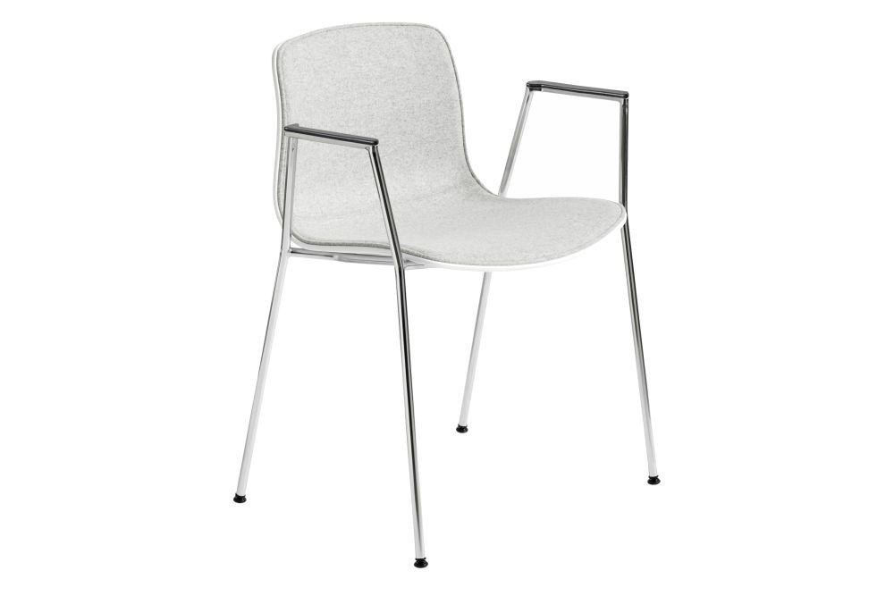 Fabric Group 1, Plastic White, Metal Chromed Steel,Hay,Dining Chairs,chair,furniture