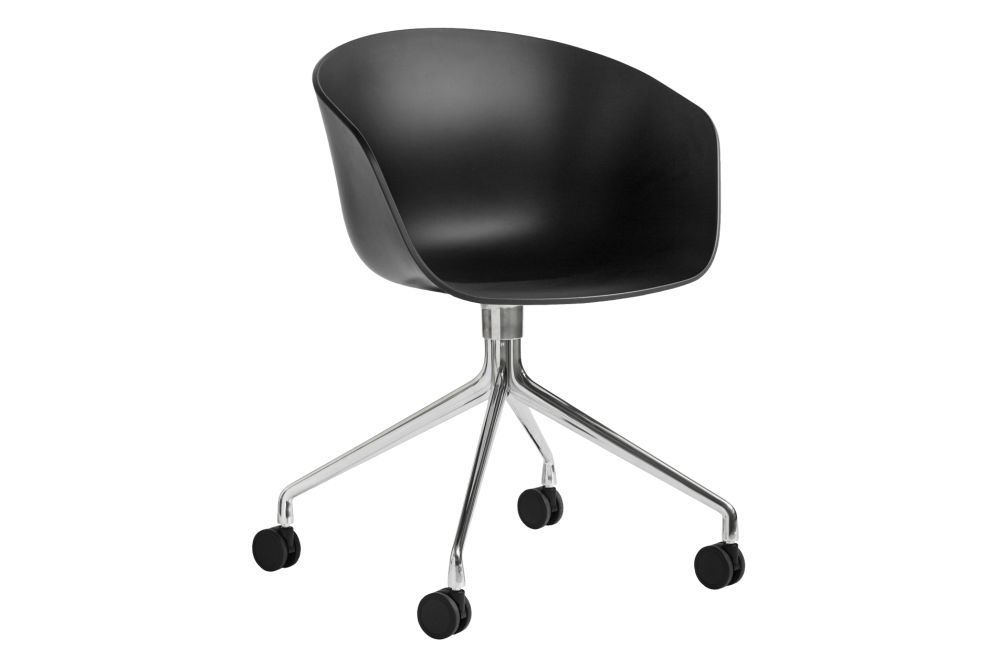 Metal White, Plastic Black,Hay,Conference Chairs,chair,furniture,line,material property,office chair,product