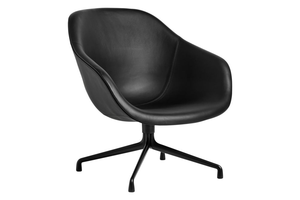 Fabric Group 4, Metal Polished Aluminium,Hay,Lounge Chairs,black,chair,furniture,line,material property,monochrome,office chair,product
