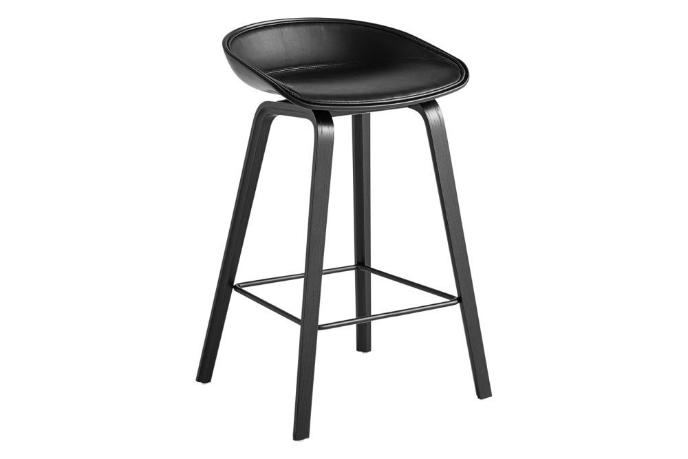 Remix 2 113, Plastic Black, Wood Soaped Oak, Metal Stainless Steel,Hay,Stools,bar stool,furniture,stool