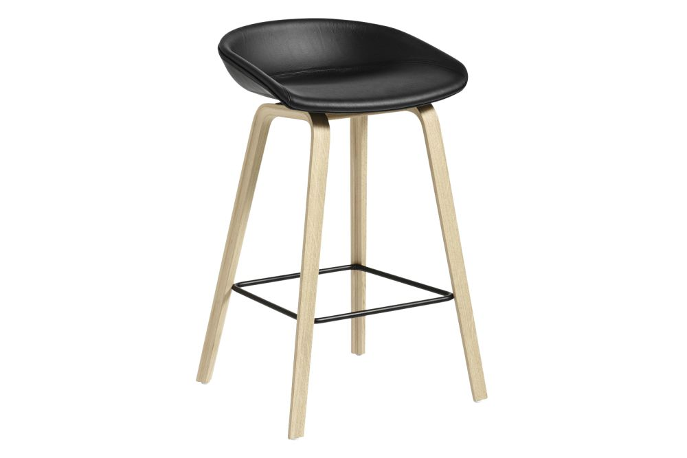 Fabric Group 6, Wood Matt Oak, Metal Black,Hay,Stools,bar stool,furniture,stool