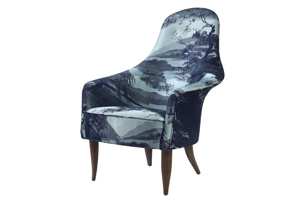 Gubi Wood American Walnut, Price Grp. 01,GUBI,Lounge Chairs,chair,furniture,turquoise