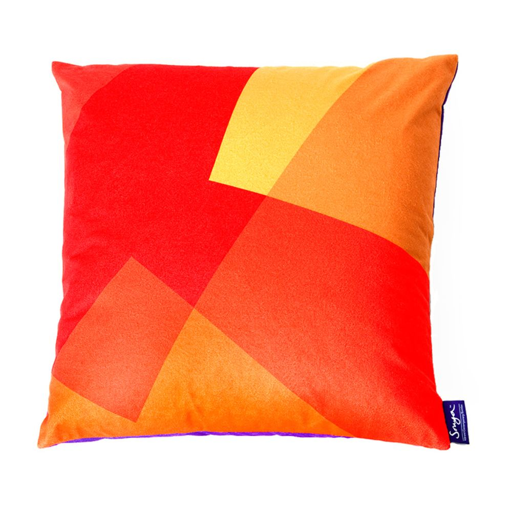 Green & Blue,Sonya Winner Studio,Cushions,cushion,flag,orange,pillow,rectangle,red,textile,throw pillow,yellow