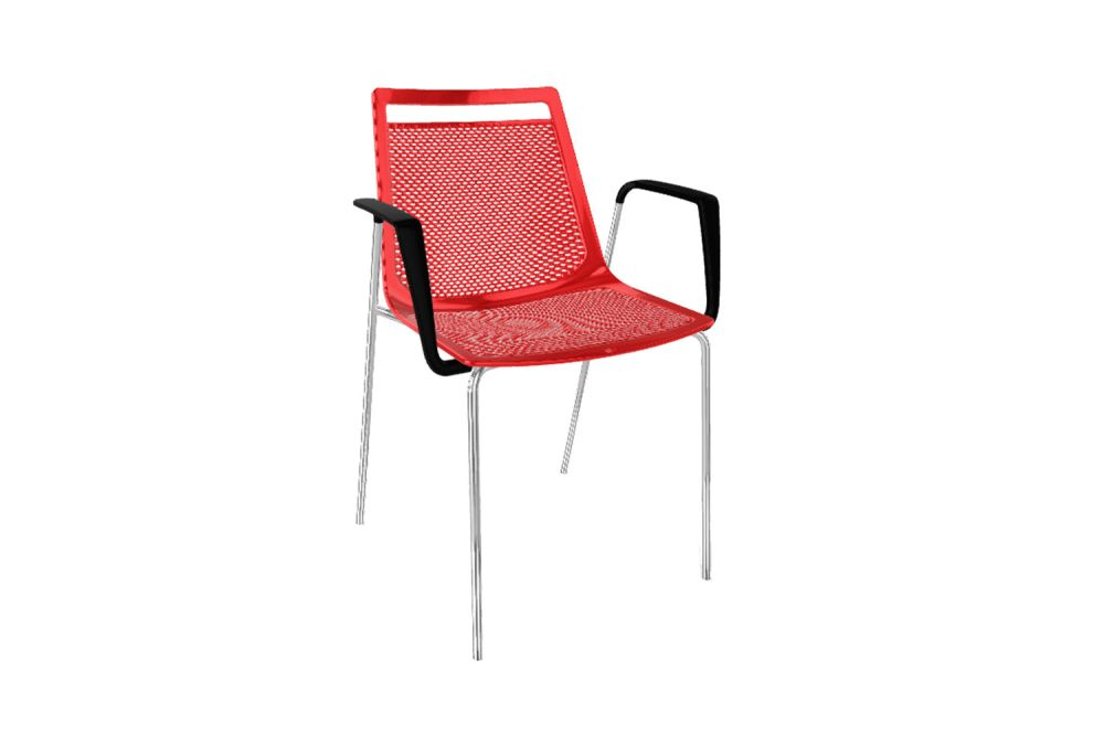 White Painted Metal/White/00 White,Gaber,Breakout & Cafe Chairs,chair,furniture,outdoor furniture,red