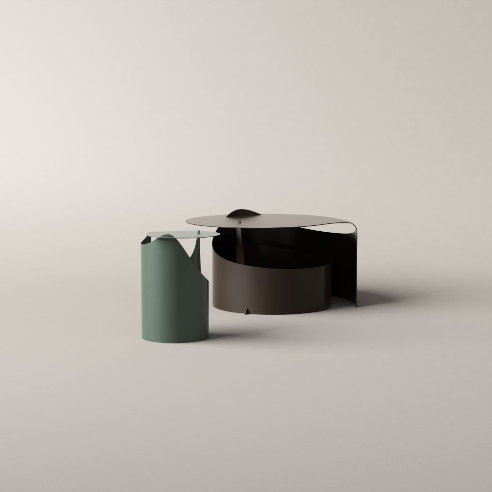 Green Lacquered, Ø 32,Karakter Copenhagen,Coffee & Side Tables,ashtray,cylinder,design,material property,product,table