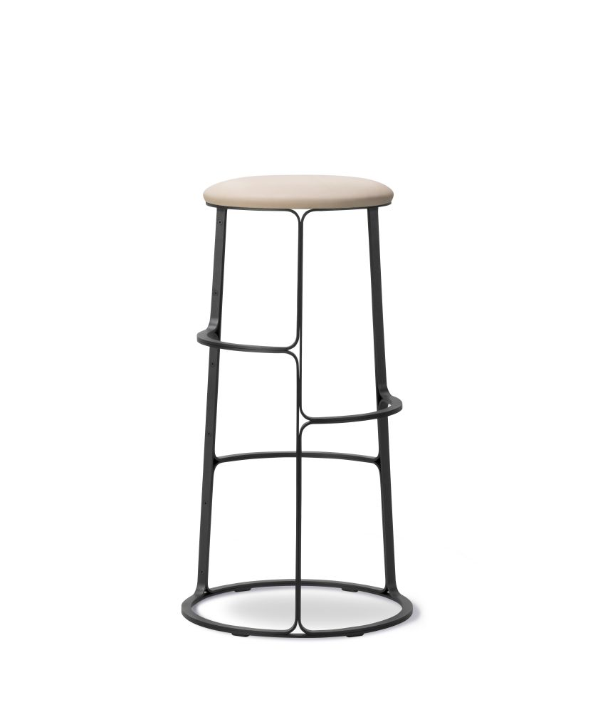 Barbry Stool - With Seat Upholstery by Fredericia