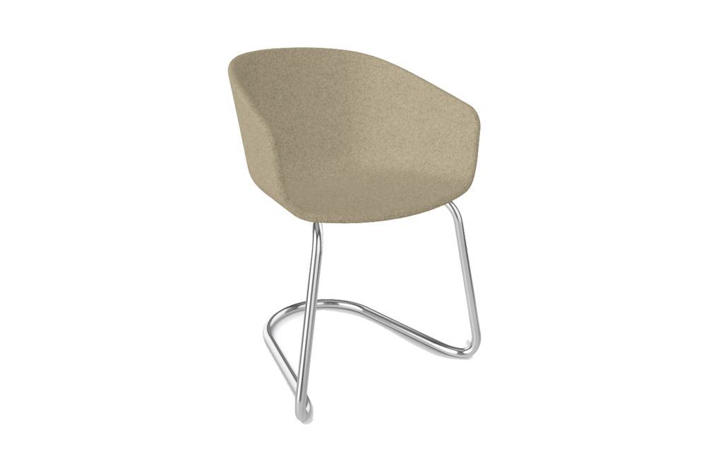 King Fabric 4021, Chromed Metal,Gaber,Breakout Lounge & Armchairs,beige,chair,furniture