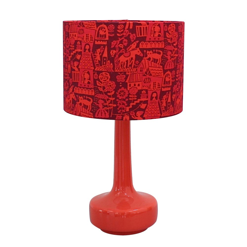 Winter's Moon,Table Lamps,lamp,lampshade,lighting,lighting accessory,red