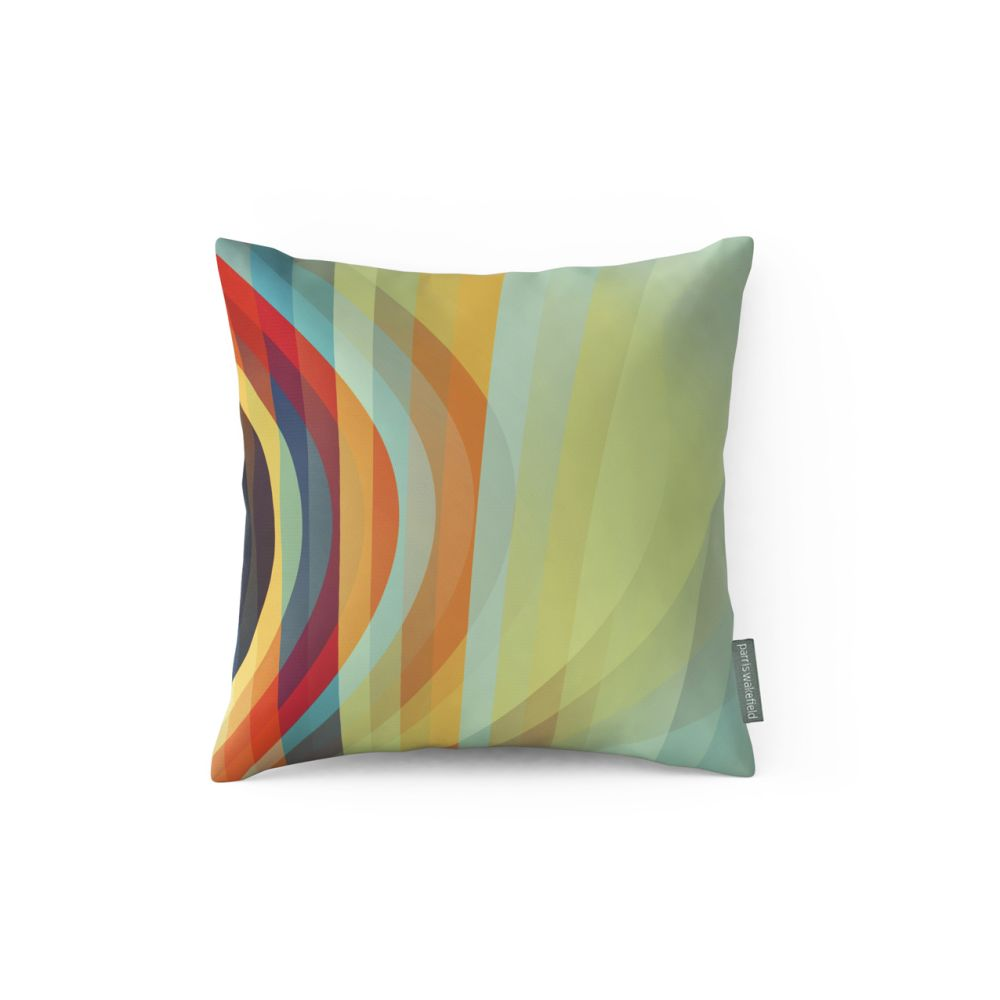 Small,Parris Wakefield Additions,Cushions,aqua,cushion,furniture,linens,orange,pillow,rectangle,textile,throw pillow,turquoise,yellow